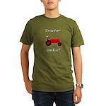 Red Tractor Junkie Organic Men's T-Shirt (dark)