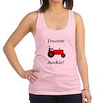 Red Tractor Junkie Racerback Tank Top