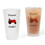 Red Tractor Junkie Drinking Glass