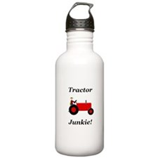 Red Tractor Junkie Water Bottle