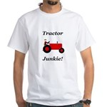 Red Tractor Junkie White T-Shirt