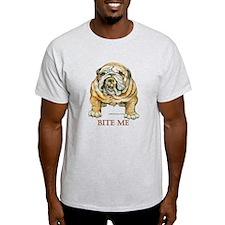 Bite me orange script T-Shirt
