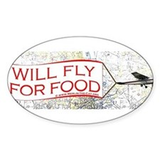 Will Fly for Food Decal