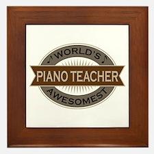 Awesome Piano Teacher Framed Tile