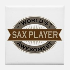 Awesome Sax Player Tile Coaster