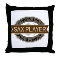 Awesome Sax Player Throw Pillow