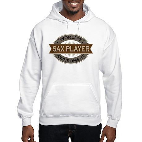 Awesome Sax Player Hooded Sweatshirt