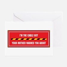 I'm the Cable Guy Greeting Cards (Pk of 10)