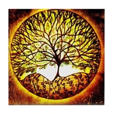 Ecliptical Tree Tile Coaster