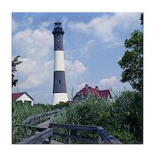 Fire Island Lighthouse Tile Coaster
