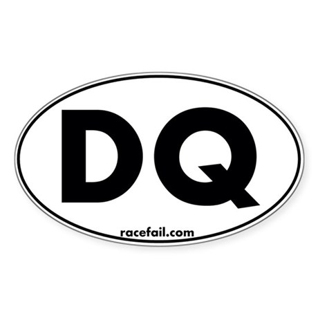 DQ Oval Sticker 3x5