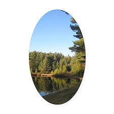 Adirondack Lake Oval Car Magnet