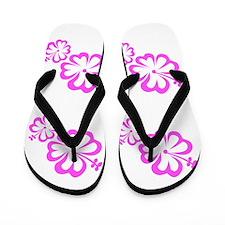 Pink Floral Menagerie Mothers Day Flip Flops