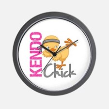 Kendo Chick 2 Wall Clock