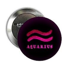 "Aquarius Zodiac Symbol 2.25"" Button"