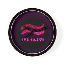 Aquarius Zodiac Symbol Wall Clock
