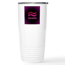Aquarius Zodiac Symbol Travel Mug