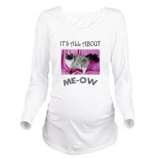 FIN-ME-OW-ragdoll-cat.png Long Sleeve Maternity T-
