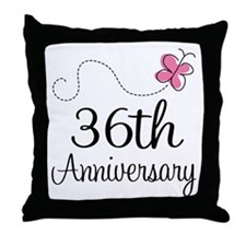 36th Anniversary Butterfly Throw Pillow