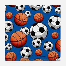 Basketball & Soccer Tile Coaster