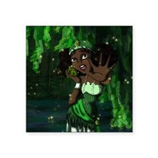"Frog Princess Square Sticker 3"" x 3"""
