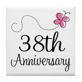 38th wedding anniversary Drink Coasters
