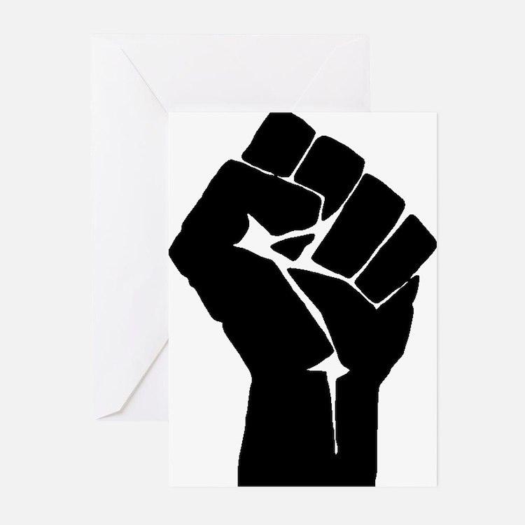Solidarity Salute Greeting Cards