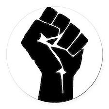 Solidarity Salute Round Car Magnet