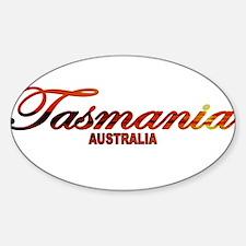 Tasmania, Australia Oval Decal