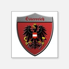 Austria Metallic Shield Sticker