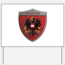 Austria Metallic Shield Yard Sign