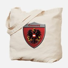 Austria Metallic Shield Tote Bag