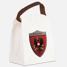 Austria Metallic Shield Canvas Lunch Bag