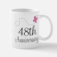 48th Anniversary Butterfly Mug