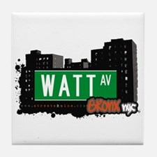 Watt Av, Bronx, NYC Tile Coaster