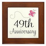 49th wedding anniversary Framed Tiles