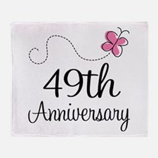 49th Anniversary Butterfly Throw Blanket