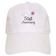 51st Anniversary Butterfly Baseball Cap