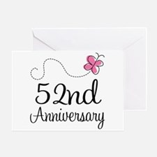 52nd Anniversary Butterfly Greeting Card