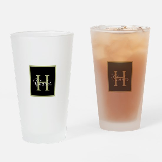 Monogram and Name Drinking Glass