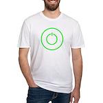 COMPUTER POWER BUTTON SHIRT C Fitted T-Shirt