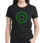 COMPUTER POWER BUTTON SHIRT C Women's Dark T-Shirt