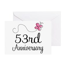 53rd Anniversary Butterfly Greeting Card