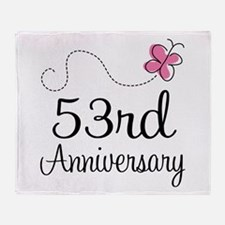 53rd Anniversary Butterfly Throw Blanket