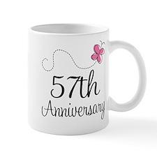 57th Anniversary Butterfly Mug