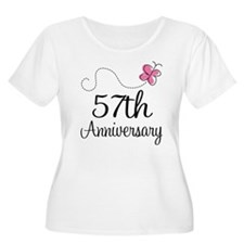 57th Anniversary Butterfly T-Shirt