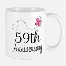 59th Anniversary Butterfly Mug