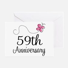 59th Anniversary Butterfly Greeting Card