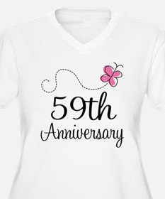 59th Anniversary Butterfly T-Shirt
