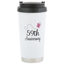 59th Anniversary Butterfly Travel Mug